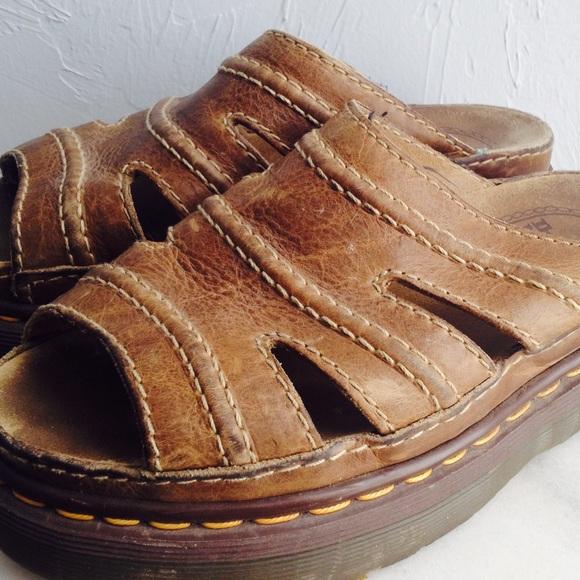 47fc7df1d4750 DR DOC MARTENS Leather Women's Slide Sandals Mules